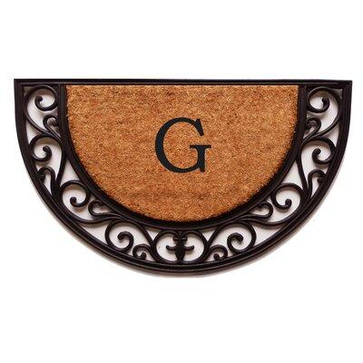 Plantation Monogram Doormat Letter: G