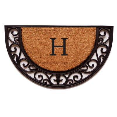 Plantation Monogram Doormat Letter: H