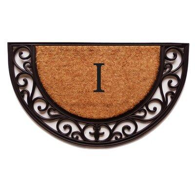 Plantation Monogram Doormat Letter: I