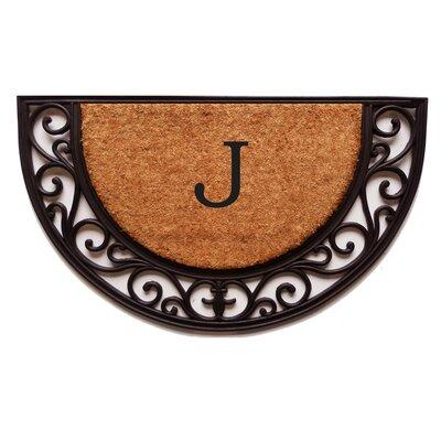 Plantation Monogram Doormat Letter: J