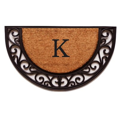 Plantation Monogram Doormat Letter: K