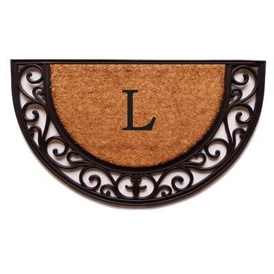 Plantation Monogram Doormat Letter: L