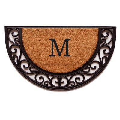 Plantation Monogram Doormat Letter: M