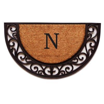 Plantation Monogram Doormat Letter: N