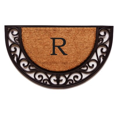 Plantation Monogram Doormat Letter: R