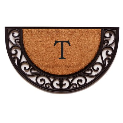 Plantation Monogram Doormat Letter: T