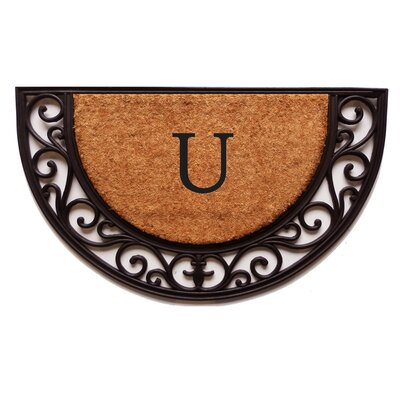 Plantation Monogram Doormat Letter: U