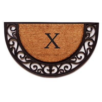 Plantation Monogram Doormat Letter: X