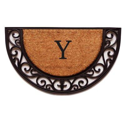 Plantation Monogram Doormat Letter: Y