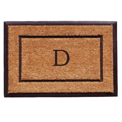 General Monogram Doormat Letter: D