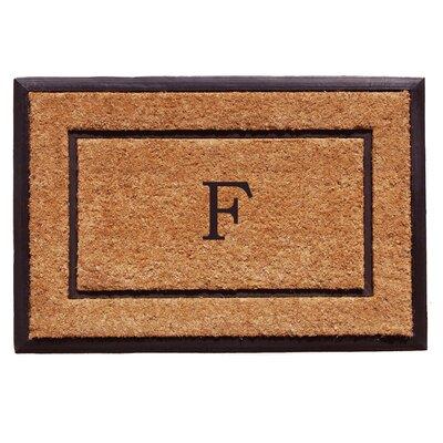 General Monogram Doormat Letter: F