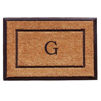 General Monogram Doormat Letter: G