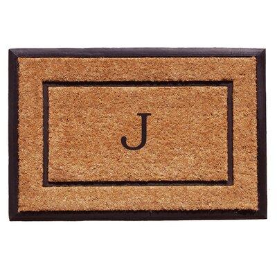General Monogram Doormat Letter: J