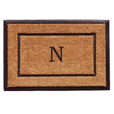 General Monogram Doormat Letter: N