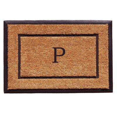 General Monogram Doormat Letter: P