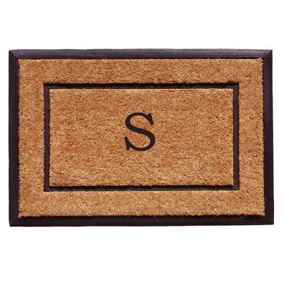 General Monogram Doormat Letter: S