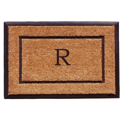 General Monogram Doormat Letter: R