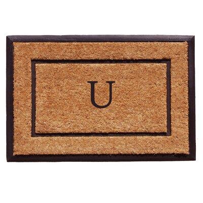 General Monogram Doormat Letter: U
