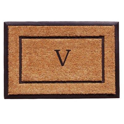 General Monogram Doormat Letter: V