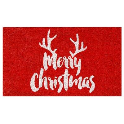 Christmas Antlers Doormat