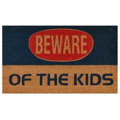 Kids Warning Doormat