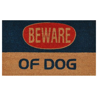 Dog Warning Doormat
