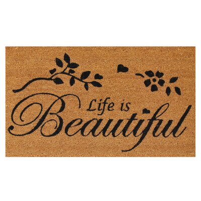 Life Is Beautiful Doormat