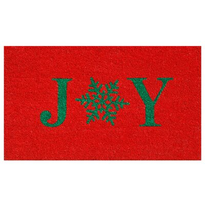Snowflake Joy Doormat