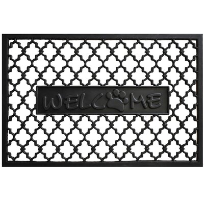 Welcome Paw Rubber Doormat