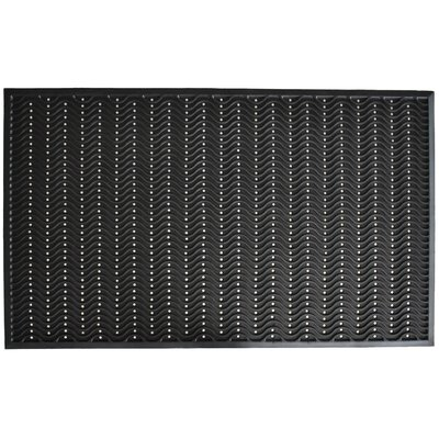 True Step Wave Rubber Doormat