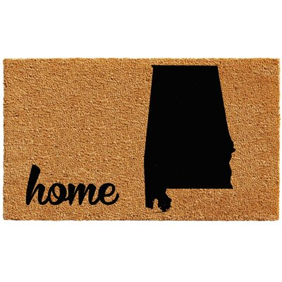 Alabama Doormat Mat Size: 1.5 x 2.5