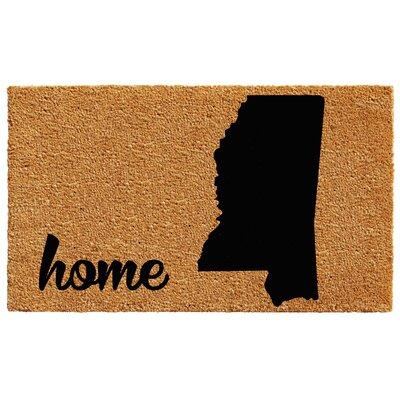 Mississippi Doormat Mat Size: 2 x 3