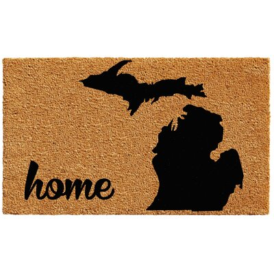 Michigan Doormat Rug Size: 2 x 3