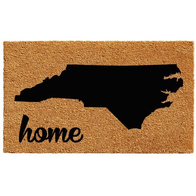 North Carolina Doormat Mat Size: 1.5 x 2.5