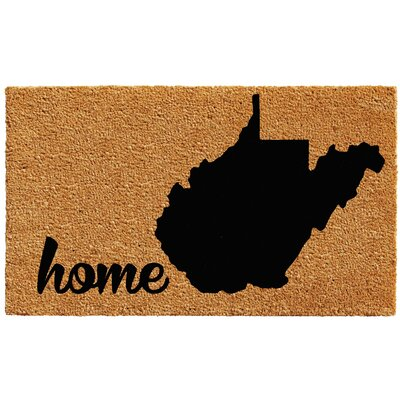 West Virginia Doormat Mat Size: 1.5 x 2.5