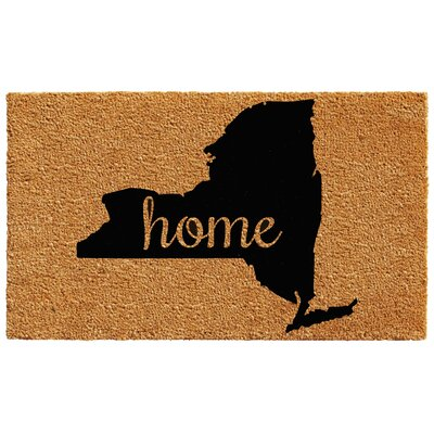 New York Doormat Rug Size: 1.5 x 2.5