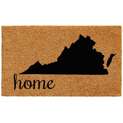 Virginia Doormat Mat Size: 1.5 x 2.5