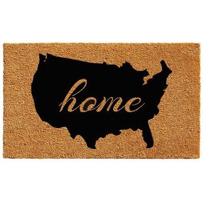 USA Doormat Rug Size: 1.5 x 2.5
