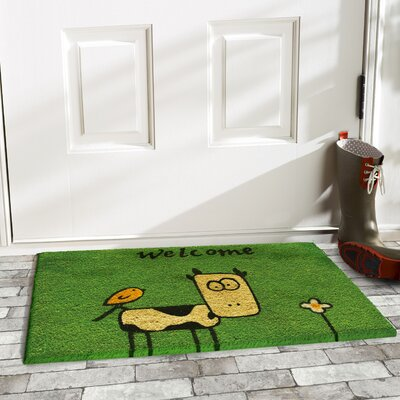Laurie Cute Cow Doormat