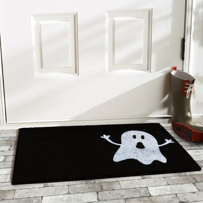 Ghost Doormat Mat Size: Rectangle 2 x 3, Color: Natural/Black