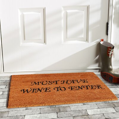 Must Have Wine Doormat