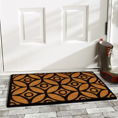 Circles and Stars Doormat Rug Size: Rectangle 2 x 3