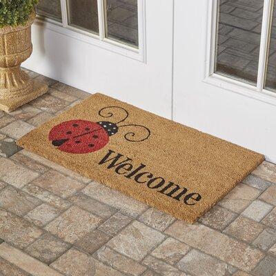 Gleeson Ladybug Welcome Doormat