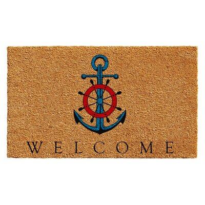 Huber Ships Anchor Welcome Doormat