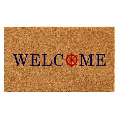 Anderson Ships Wheel Welcome Doormat