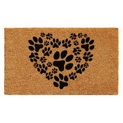 Howell Heart Paws Doormat Rug Size: 2 x 3