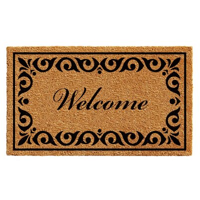 Lindemann Welcome Doormat Mat Size: Rectangle 3 x 6