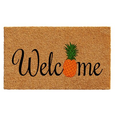 Jazlyn Pineapple Fun Doormat Rug Size: 15 x 25