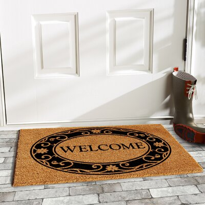 Hobson Welcome Doormat Mat Size: Rectangle 15 x 25