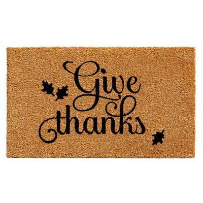 Holt Give Thanks Doormat